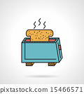 vector, toaster, icon 15466571