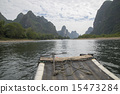 China Guilin Lijiang River rafting, beautiful river. 15473284