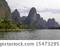 China Guilin Lijiang River rafting, beautiful river. 15473295