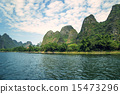 China Guilin Lijiang River rafting, beautiful river. 15473296