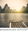 China Guilin Lijiang River rafting, beautiful river. 15473297