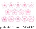 吉野樱花树 樱花 樱桃树 15474826