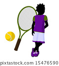 African American Teen Tennis Player Illustration 15476590