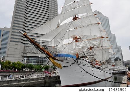 웅자 닛폰 마루의 전체 돛 開帆 15481993