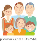3 generations 6 healthy family 15492564
