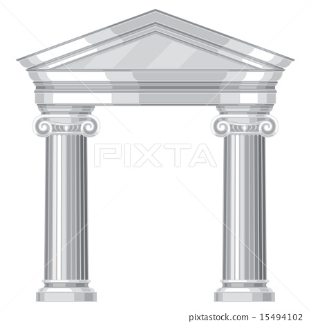 Ionic realistic antique greek temple with columns 15494102