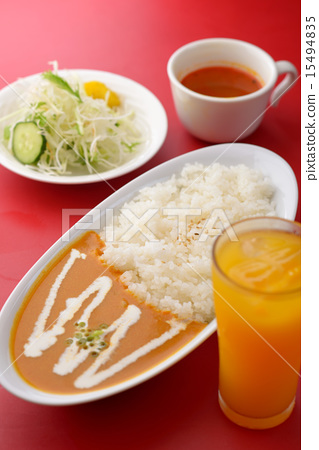 Curry and rice 15494835