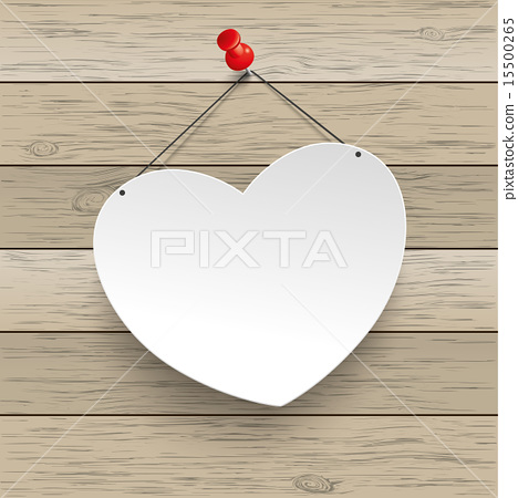 Paper Heart Thumbtack Wood 15500265