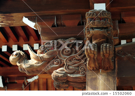 The carving of the dragon in the Odori Shrine 15502060