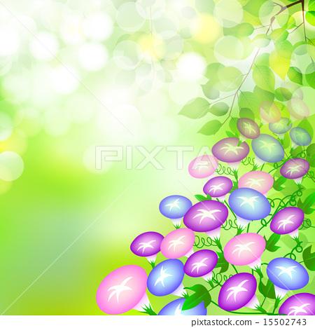 Morning glory fresh green background - Stock Illustration