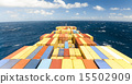 large container vessel ship and the horizon 15502909