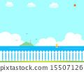 정원 울타리와 바다 15507126