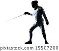 man fencing silhouette 15507200