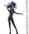 woman samba dancer silhouette 15507582