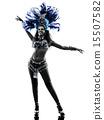 woman samba dancer silhouette 15507582