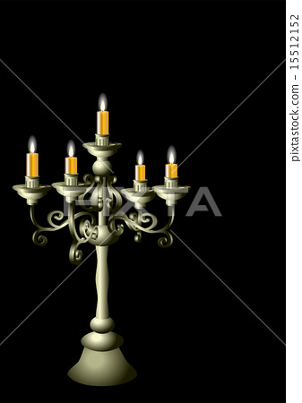 silver candelabrum with cadles 15512152