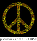 Colored Peace Sign Yellow Orange 15513850