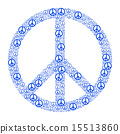 Blue Peace Sign 15513860