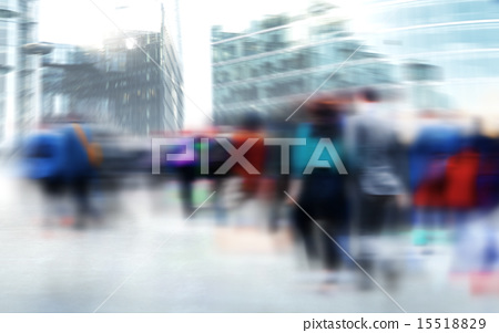 Crowd People Commuter City Travel Walking Concept 15518829