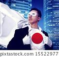 Superhero Businessman Japanese Cityscape Concept 15522977