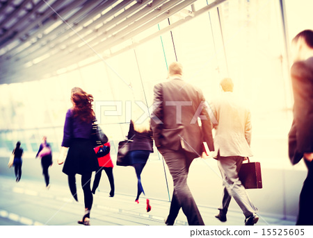 Stock Photo: Business People Walking Commuter Travel Motion City Concept