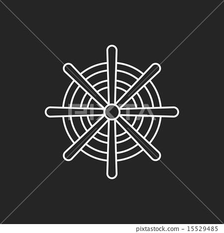 Rudder line icon 15529485