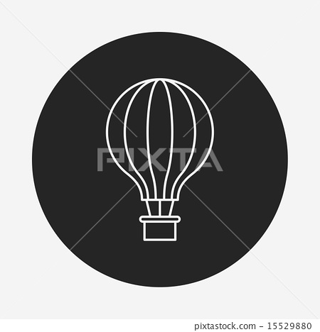hot air balloon line icon 15529880