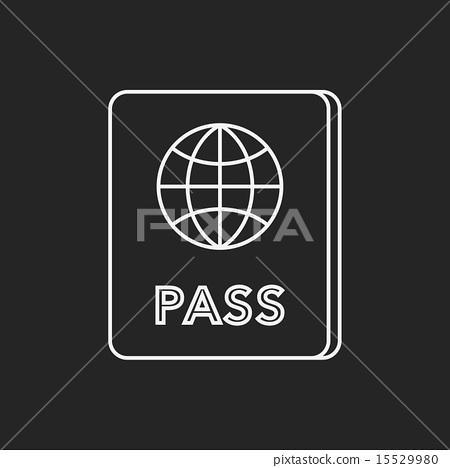 passport line icon 15529980