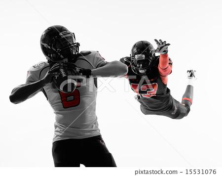 american football player quarterback sacked silhouette 15531076