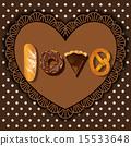 bake goods in word of love shape 15533648