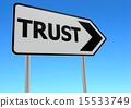 Trust road sign 15533749