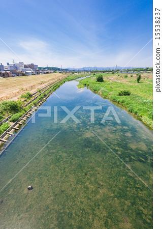 沙洲 河流 玉川 15538237