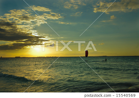 Sunset over the sea 15540569