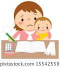 放家庭帳簿的母親 15542559