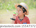 soap bubbles, person, younger 15547372