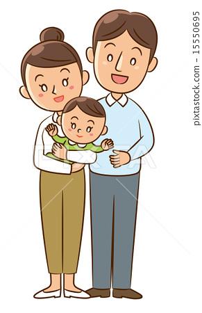 부부와 아기 15550695