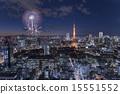 夜景 夏祭 東京 15551552