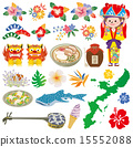 icon, Okinawa, vectors 15552088