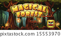 Set banner and icon for the computer game magic forest 15553970