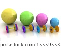 Fitness ball and dumbell 15559553