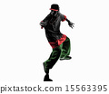 hip hop acrobatic break dancer breakdancing young man silhouette 15563395