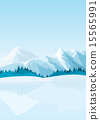 snowy scenery mountain 15565991