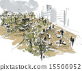 散步 街道树 行道树 15566952