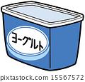 矢量圖 發酵食品 乳製品 15567572