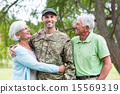 Soldier reunited with his parents 15569319