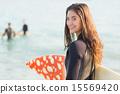 冲浪板 冲浪者 女性 15569420