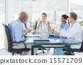 Team of doctors having a meeting 15571709