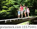 hiking, trekking, family 15575441