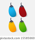 Paper clipped sticker: vegetable eggplant 15585660