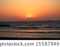 鑽石富士 日落 夕陽 15587940